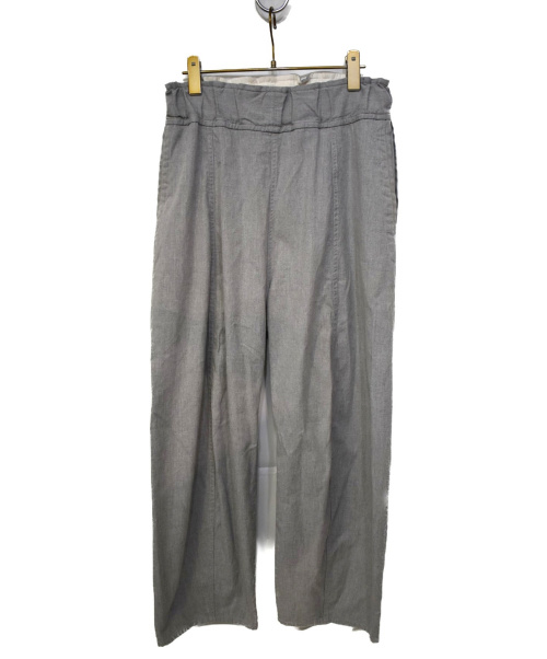 FIRMUM(フィルマム)FIRMUM (フィルマム) コットントップドビーパナマイージーパンツ ライトグレー サイズ:S FR204PFの古着・服飾アイテム