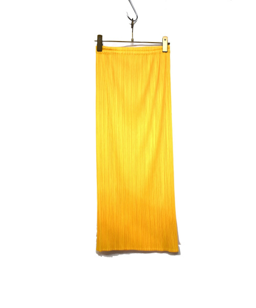 PLEATS PLEASE(プリーツプリーズ)PLEATS PLEASE (プリーツプリーズ) プリーツスカート イエロー サイズ:1の古着・服飾アイテム
