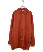 LEMAIRE(ルメール)の古着「SILK NYLON OVER SHIRT」|オレンジ