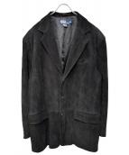 POLO RALPH LAUREN(ポロラルフローレン)の古着「ヌバックレザージャケット」|ブラック