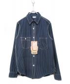 FREEWHEELERS(フリーホイーラーズ)の古着「ワークシャツ」 ネイビー