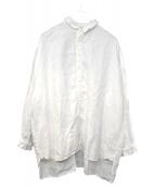 nest Robe(ネストローブ)の古着「襟カットオフリネンワイドシャツ」|ホワイト