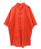 NAISSANCE(ネサーンス)の古着「20S/SCHINA SHIRT JACKET」|オレンジ
