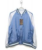 Varde77(バルデセブンティセブン)の古着「サテンジャケット」|スカイブルー