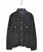 stussy(ステューシー)の古着「スェードトラッカージャケット」|ブラック