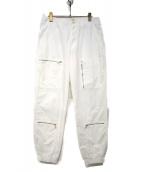 UNDERCOVER(アンダーカバー)の古着「17S/Sコットンナイロンタッサー裾ゴムフライトパンツ」 ホワイト