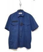 UNDERCOVER(アンダーカバー)の古着「99'SヴィンテージS/Sミリタリーシャツ」|ブルー