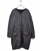 ALPHA INDUSTRIES(アルファ インダストリーズ)の古着「リバーシブルボアライナーコート」|ブラック