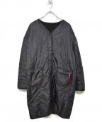 ALPHA INDUSTRIES(アルファインダストリーズ)の古着「リバーシブルボアライナーコート」|ブラック