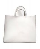 weeksdays(ウィークスデイズ)の古着「大きな革のトートバッグ」|ホワイト
