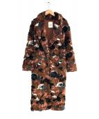 Snidel(スナイデル)の古着「ロングファーライクコート」|ブラウン