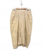 SUZUKI TAKAYUKI(スズキタカユキ)の古着「Cropped Pants」 アイボリー