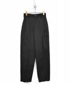 Traditional Weatherwear(トラディショナル ウェザーウェア)の古着「20A/W BACK GATHERED TAPERD PAN」|ブラック