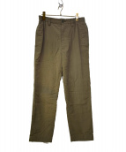 ISSEY MIYAKE MEN(イッセイミヤケメン)の古着「コットンテーパードパンツ」|オリーブ