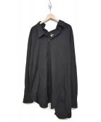 JUNYA WATANABE CDG(ジュンヤワタナベコムデギャルソン)の古着「アシンメトリーシャツ AD2017 JA-O070」|ブラック