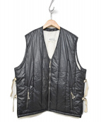 Maison Margiela 10(メゾン マルジェラ 10)の古着「17A/W Quilted Padded Vest S30F」|ダークグリーン