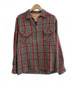 TOWN CRAFT(タウンクラフト)の古着「50'sチェックシャツ」 グレー
