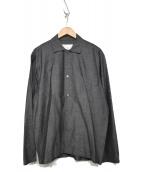 STUDIO NICHOLSON(スタジオ ニコルソン)の古着「ウールシャツ」|グレー