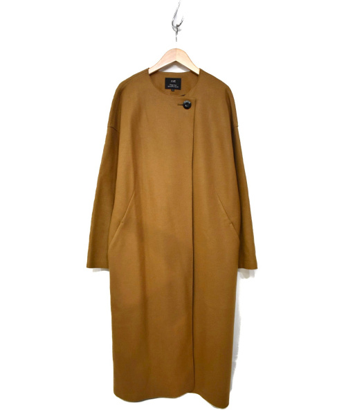 23区(ニジュウサンク)23区 (ニジュウサンク) コンプレストジャージー ゆる美人コート ブラウン サイズ:38の古着・服飾アイテム