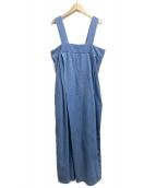 KAPITAL(キャピタル)の古着「シャツデニム ペンシルトンボンサロペット」|インディゴ