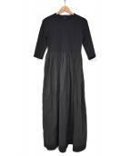 YOKO CHAN(ヨーコチャン)の古着「切替ワンピース」|ブラック