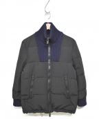 Maison Margiela10(メゾンマルジェラ10)の古着「ドライバーズダウンジャケット」|ブラック×ネイビー