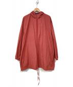 ()の古着「フーデッドチェックジャケット」|レッド