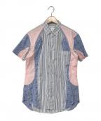 COMME des GARCONS SHIRT()の古着「切替シャツ」 ブルー