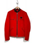 Lewis Leathers(ルイスレザーズ)の古着「UNITED ARROWS別注 シングルライダースジャケット」|レッド