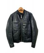 Lewis Leathers(ルイスレザーズ)の古着「別注シングルレザージャケット」|ブラック