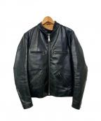 Lewis Leathers(ルイスレザース)の古着「別注シングルレザージャケット」 ブラック