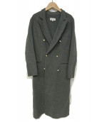 MADISON BLUE(マディソンブルー)の古着「パールボタンロングコート」 グレー