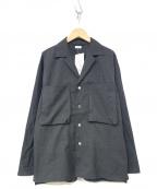 Blurhms(ブラームス)の古着「Tropical Wool Shirt Jacket」 グレー