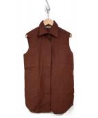 HERMES(エルメス)の古着「マルジェラ期 ノースリーブシャツ」|ブラウン