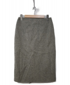 HERMES(エルメス)の古着「カシミヤウールスカート」|グレー