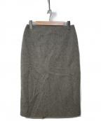 HERMES()の古着「カシミヤウールスカート」 グレー