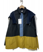 yoshio kubo(ヨシオクボ)の古着「TILE L/S SHIRTS 」|ネイビー