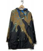 DRIES VAN NOTEN(ドリスバンノッテン)の古着「Marble Print Reversible Parka 」|ブラック