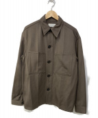 LEMAIRE(ルメール)の古着「ウールポリエステルシャツ」|ブラウン