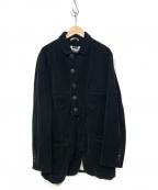 ANN DEMEULEMEESTER(アンドゥムルメステール)の古着「デザインロングジャケット」|ブラック