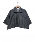 ISSEY MIYAKE me(イッセイ ミヤケ ミー)の古着「ショート丈デニムジャケット」|インディゴ