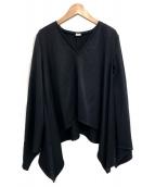 ELIN(エリン)の古着「Kersey asymmetry top」|ブラック