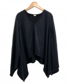 ELIN()の古着「Kersey asymmetry top」|ブラック