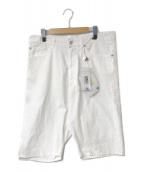 MM6 Maison Margiela(エムエムシックスメゾンマルジェラ)の古着「High-Waisted Shorts」|ホワイト