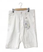 MM6 Maison Margiela()の古着「High-Waisted Shorts」|ホワイト