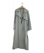 IENA(イエナ)の古着「20S/S アセテートコットン オーバーチェスターコート」|黄緑