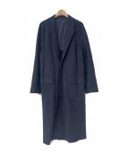 UNUSED(アンユーズド)の古着「15A/W ドロップショルダーチェスターコート」|ネイビー
