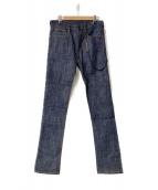 EMPORIO ARMANI(エンポリオアルマーニ)の古着「Slim Fitデニムパンツ」 インディゴ