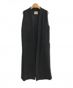 VONDEL(フォンデル)の古着「ノースリーブコート」|ブラック