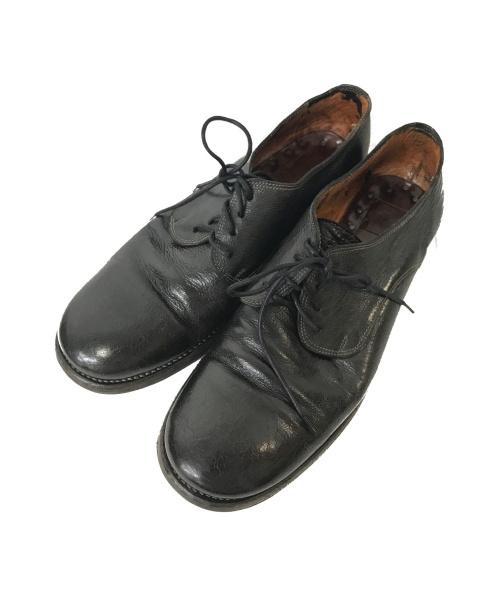 GUIDI(グイディ)GUIDI (グイディ) プレーントゥシューズ ブラック サイズ:41の古着・服飾アイテム